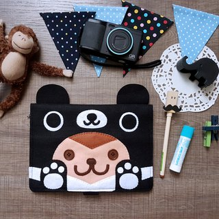 boboSARU Taiwan black bear monkey book cover cloth book