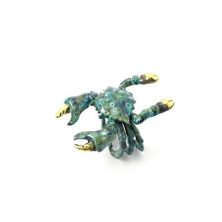 Zodiac Crab ring is for Cancer in Brass and Patina color ,Rocker jewelry ,Skull jewelry,Biker jewelry
