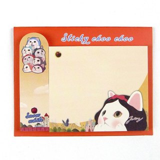 JETOY, sweet cat self adhesive sticky note _Snow white J1711310