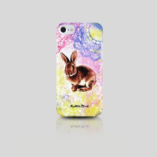 (Rabbit Mint) Mint Rabbit Phone Case - Watercolor Lace Rabbit series - iPhone 7 (P00069)