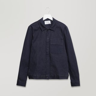 Twill Shirt Jacket with Pocket