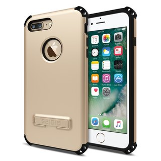 Military-grade four corners crash shell / phone shell for iPhone 7 Plus / 8 Plus-Fashion Gold-DILEX series
