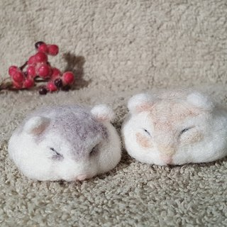Original wool felt has melted paralyzed small hamster ornaments edition