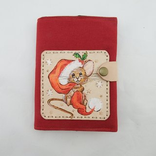 Christmas squirrel leather notebook book led book