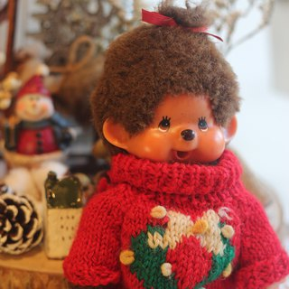 Good day fetish Germany VINTAGE hand-made sweater Dream odd / Qiqiqi / Christmas decorations / gifts / Christmas atmosphere / MONCHHICHI / Collection