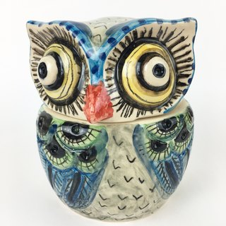 Nice Little Clay three-dimensional hand-decorated decorations _ owl storage tank 8
