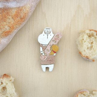 bakery cat - brooch