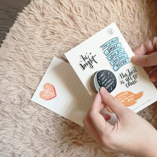 Quotes & Words Stickers+Postcard Pack / 5 stickers pack