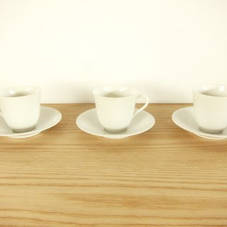 Sweden Nordic grocery ‧ lined white porcelain tea set