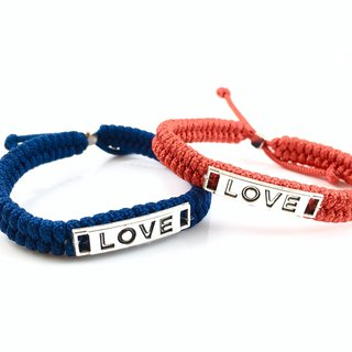 Valentine's flagship product - LOVE [Love] hand rope combination together away! (Dark blue & red)