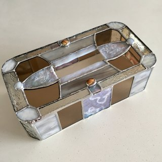 Tissue Box Case Lavender & Honey Brown Glass Bay View