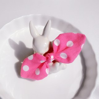 Peach Foundation Bottom Rabbit Ear Bowknot Hair Band Hair Ornament