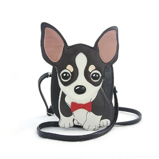 Sleepyville Critters - Chihuahua with Bow Tie Crossbody Bag