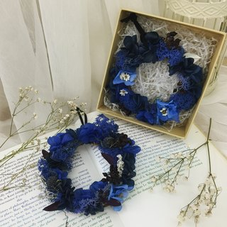 ✦ Galaxy Galaxy stroll ✦ Blue mini dried wreath / flower hand-made dried flower everlasting life / Valentine gift birthday gift home decoration