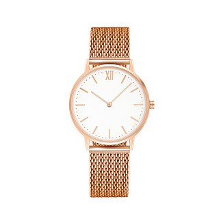Signature 36 Rose Gold – Stainless Steel Mesh