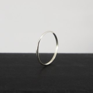 No.251.1 SILK THREAD RING Silver Cord Ring (Smooth) - Sterling Silver