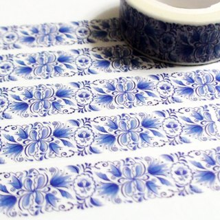 Masking Tape Blue & White Lily