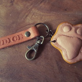 Cute Woolen Kids Meatballs Pure Leather Keyring - Lettering (Customer, Birthday Gift)