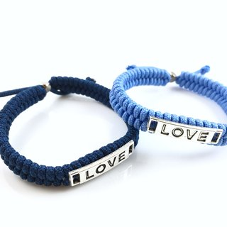 Valentine's flagship product - LOVE [Love] hand rope combination together away! (dark blue light blue)