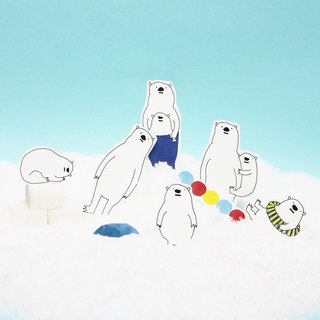 polar bear stickers/ Whity and Softy