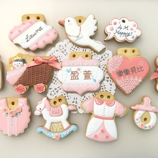 Little Princess Rose Garden 12 Cookies