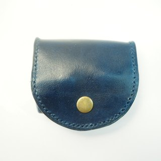 Billowing leather coin purse dark blue