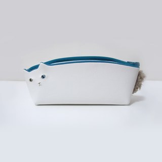 White cat pen case [MTO]