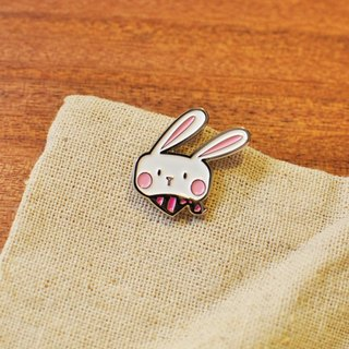 [Series] BONA SUMAIRU Bunny metallic paint badge / brooch ★ pink rabbit scarf NANA (single paragraph)