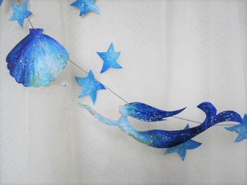 Mermaid and sea garland 2