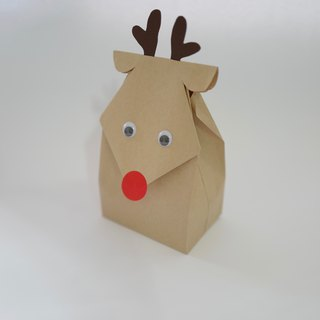 Christmas elk bag set of five
