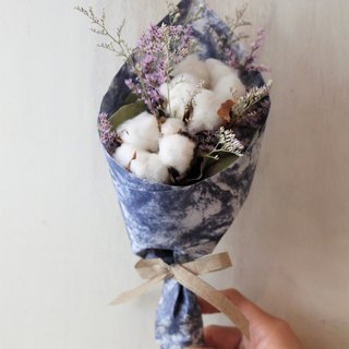 Exquisite small bouquet [dry flower series] azure ocean