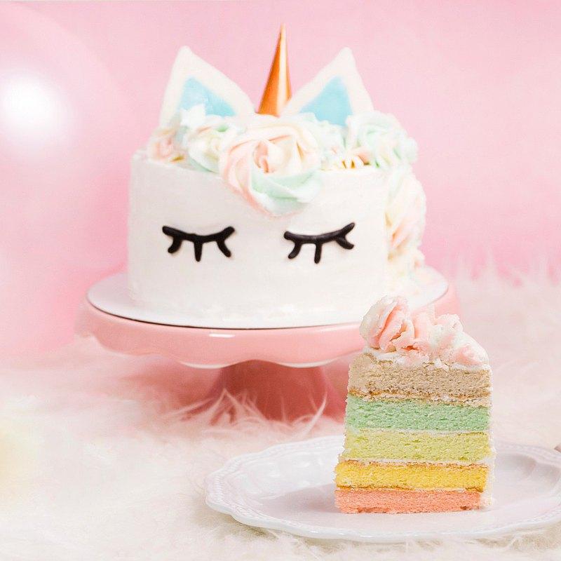 【板橋新板店】玩美UNICORN彩虹蛋糕・網美超人氣・DIY 平板教學