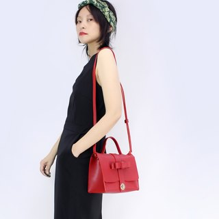 Zemoneni Tokyo Red collection leather lady cross body shoulder bag