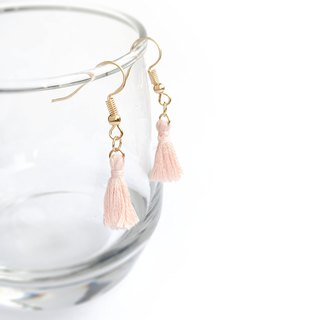 Handmade Tassel Earrings Earclips Rose Gold Series-light pink limited