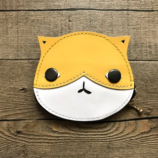 POPO│ yellow cat │ lightweight wallet │ leather