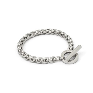 Recovery Thick Twist Bracelet (Bright Silver)