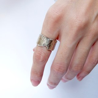 Irregular Wide Silver Ring