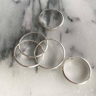 Basic regular plain face ring silver 925