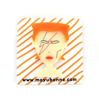 David Bowie Acrylic Brooch Pin