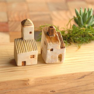 [Christmas gift exchange] -1 coffee brown roof house south of France Thao (ceramic 2) Birthday Gifts