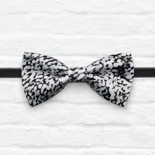 Style 0343 Black and white leopard Bowtie - Wedding Bowtie, Gift for Him, Toddler Bow tie, Groomsmen bow tie, Pre Tied and Adjustable Novioshk