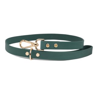 Cittadino Italian vegetable tanned leather leash - pine green