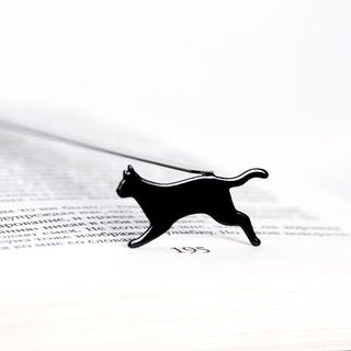 Metal Book Bookmark Running Cat // Present for book lover // unique gift packaging ready to give // Free shipping // Stocking stuffer
