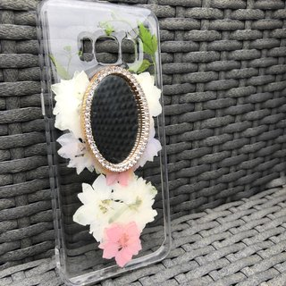 Samsung Galaxy S8 Dry Pressed Flowers Case Mirror crystal case FMR 003