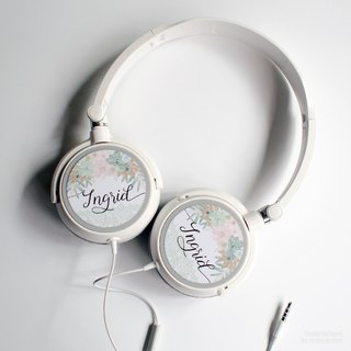 Garden Romance - Personalized Headphone, Personalized gifts, Birthday Gift, Gift for Teens, Name Gift