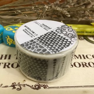 Hand painted black and white material illustration paper tape