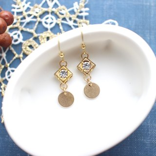 Vintage style-Brass earrings