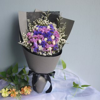 Vernal Equinox - Dark Gray Pink Purple Stars Holding Dry Bouquet Graduation