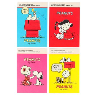 Snoopy Cartoon Character Classic Postcard Limited Collection Set 4 In [Hallmark-Postcard]