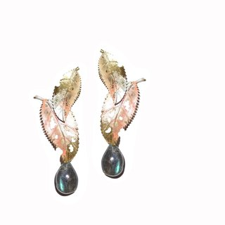Autumn Labradorite Earrings Autumn leaves Labradorite earrings Pre-order
